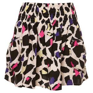 TOPSHOP Leopard Satin Summer Mini Skirt 8